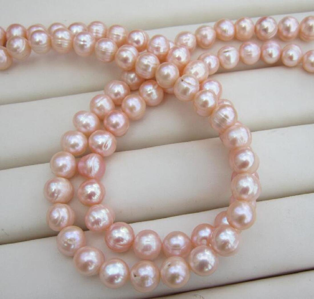 Aaa 10-11mm Perfect South Sea Genuine Gold Pink Pearl - 6