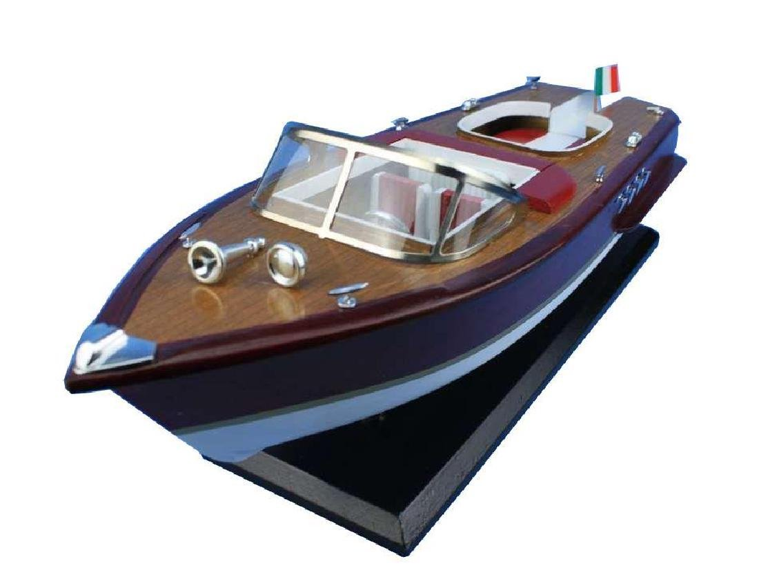 Wooden Riva Aquarama Model Speed Boad 20'' - 5