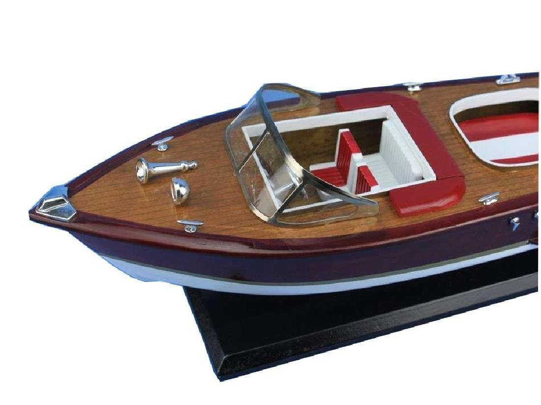 Wooden Riva Aquarama Model Speed Boad 20'' - 7