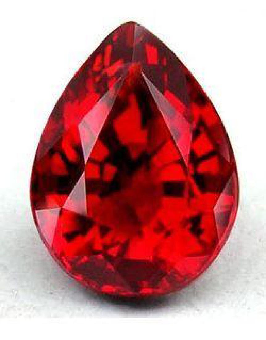 6ct Pear Cut BIANCO Red Diamond