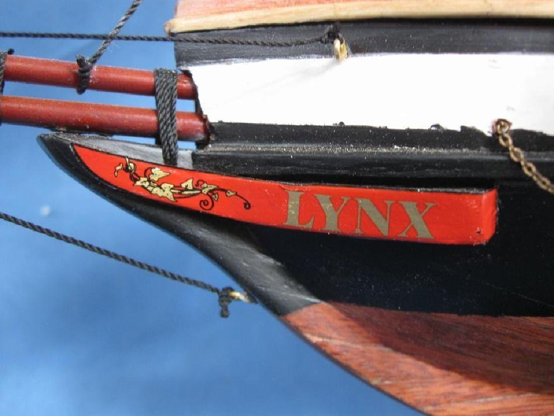 "Wooden Lynx Model Ship 24"" - 14"