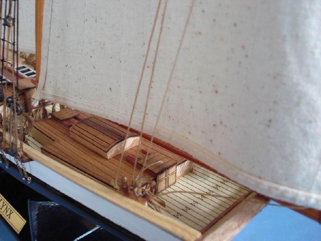 "Wooden Lynx Model Ship 24"" - 15"