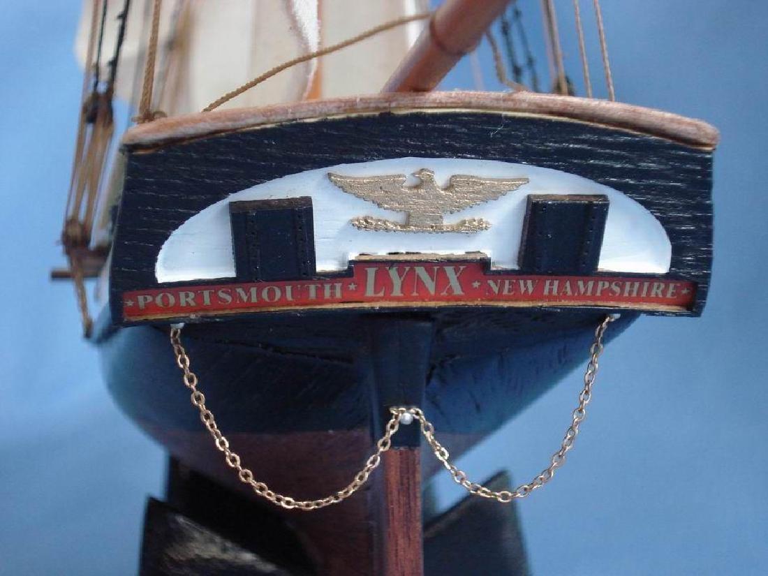 "Wooden Lynx Model Ship 24"" - 16"