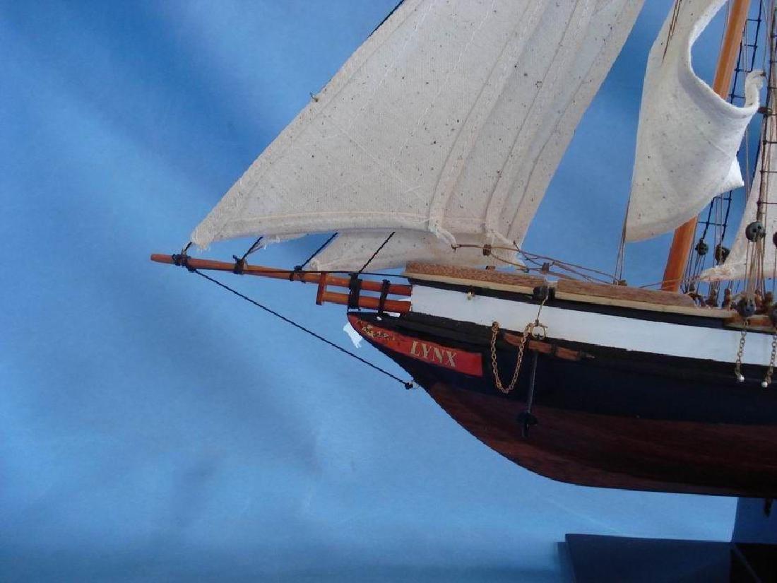 "Wooden Lynx Model Ship 24"" - 4"