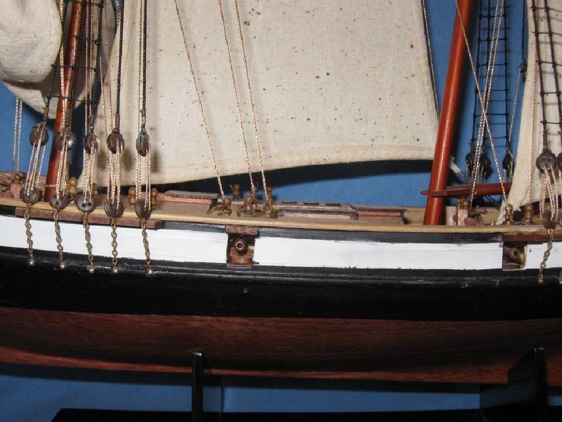 "Wooden Lynx Model Ship 24"" - 7"