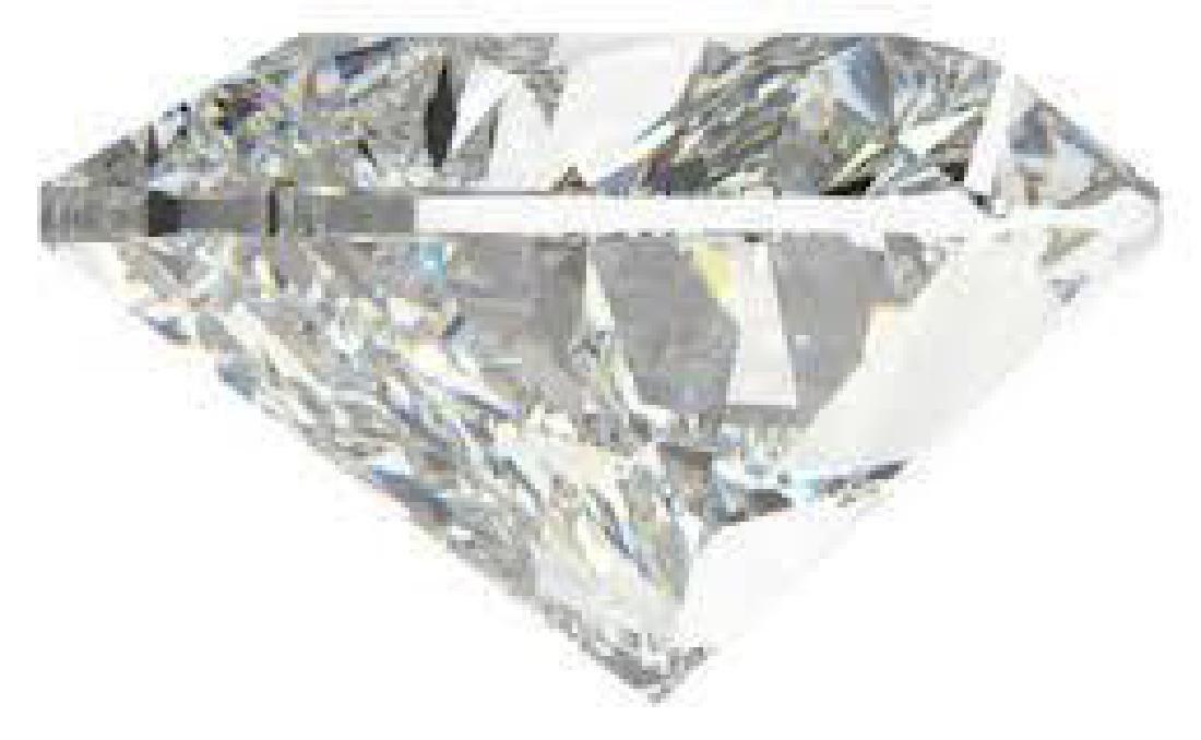 10 carat Heart Facet BIANCO Diamond - 2