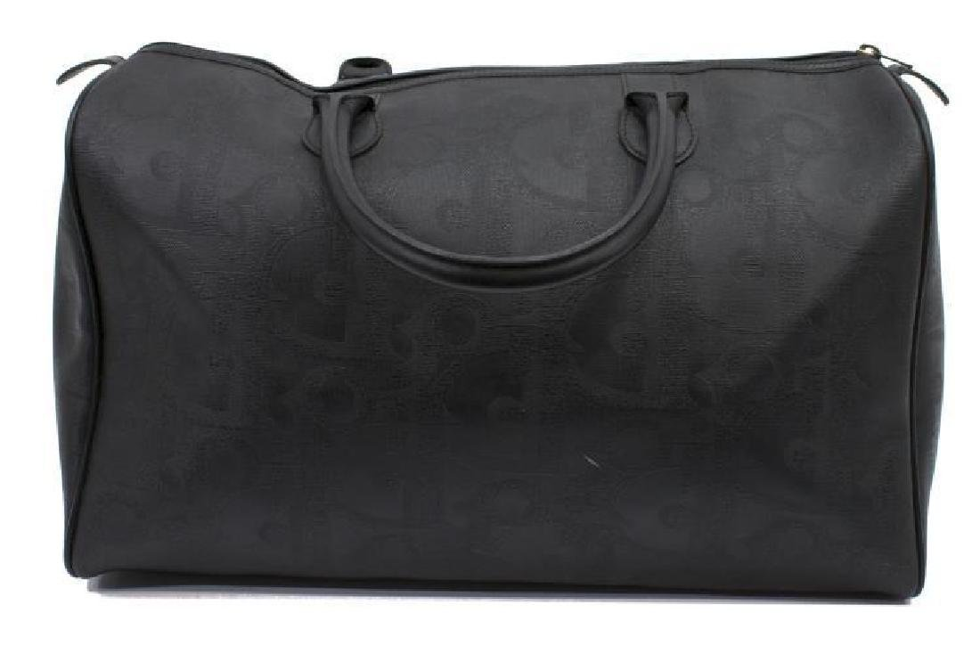 Vintage Dior Black Monogram Boston Travel Bag - 2