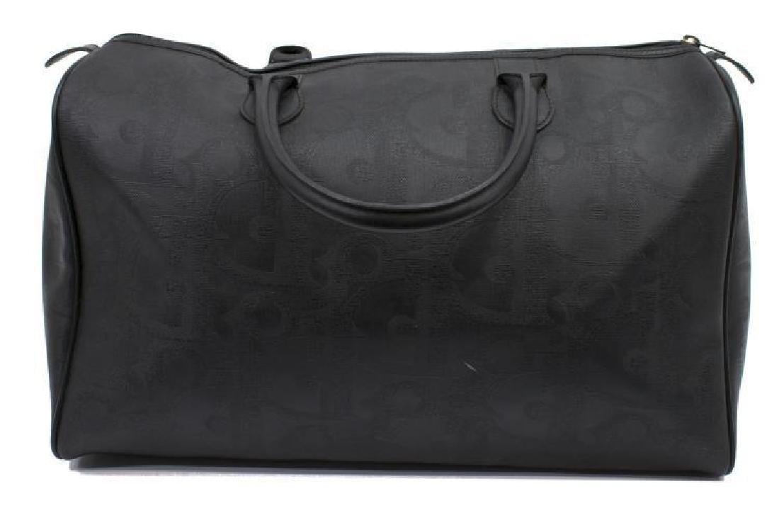 Vintage Dior Black Monogram Boston Travel Bag - 2