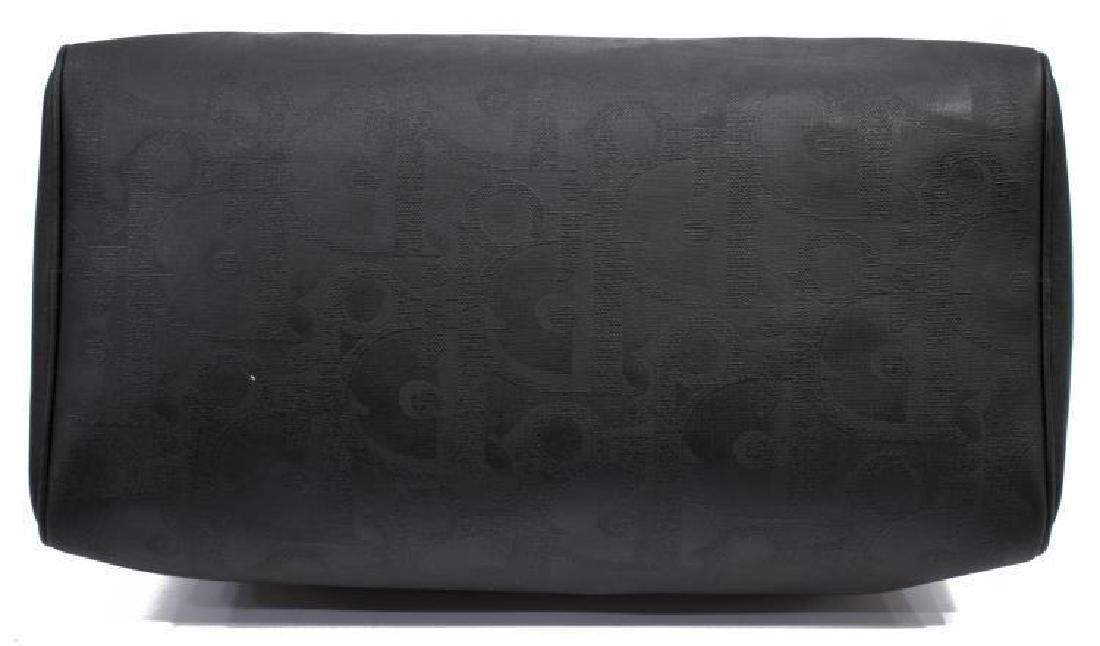 Vintage Dior Black Monogram Boston Travel Bag - 3