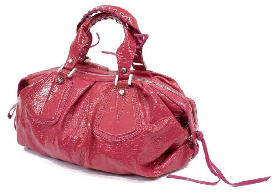 Francesco Biasia Pink Patent Leather Hobo Bag