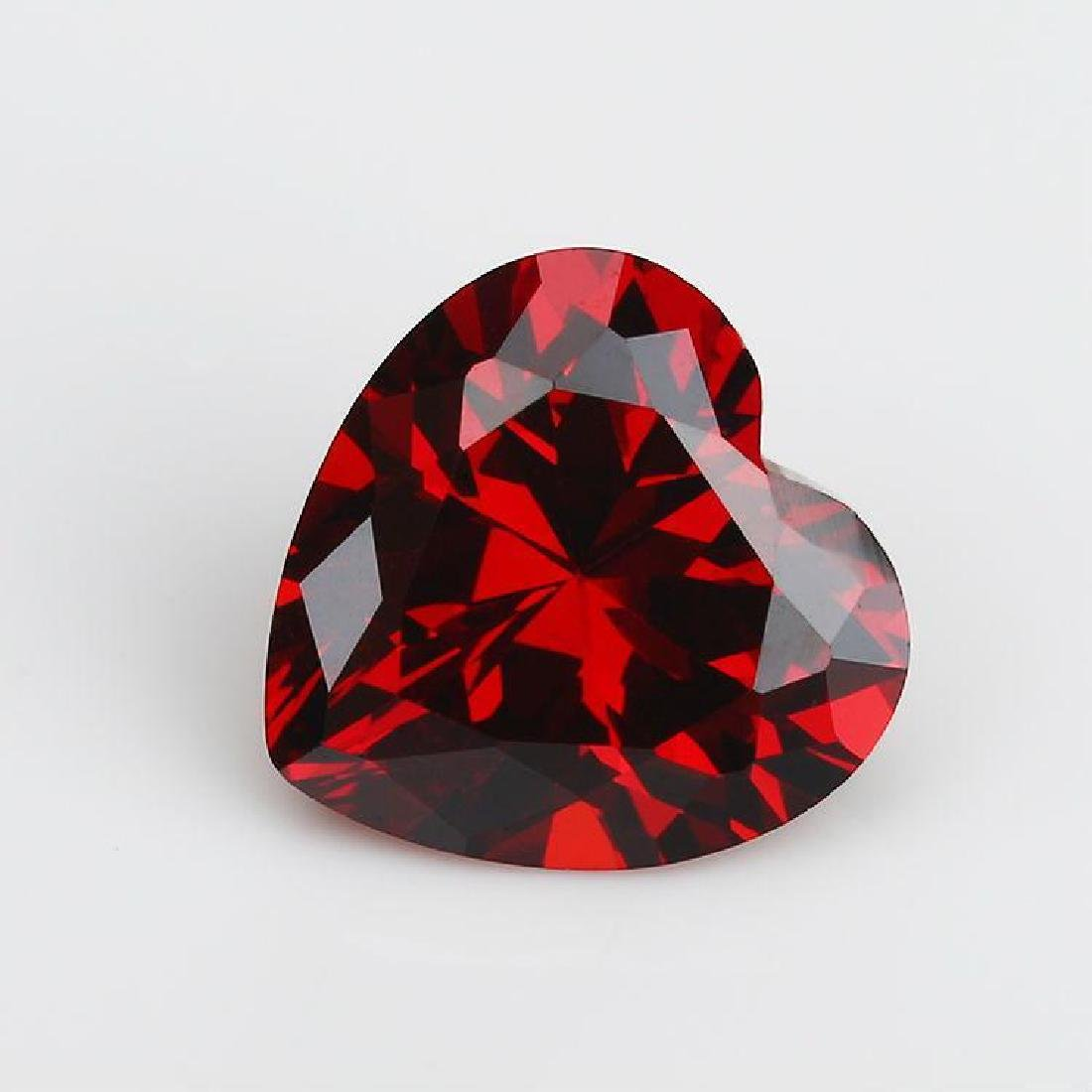 Heart Garnet VVS Bianco 6AAAAAA Diamond 11*11mm