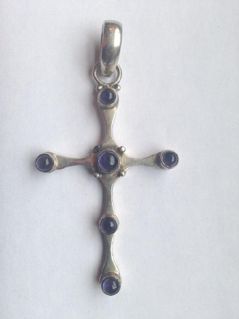 LG Vintage Medieval Style Cross Crucifix Sterling
