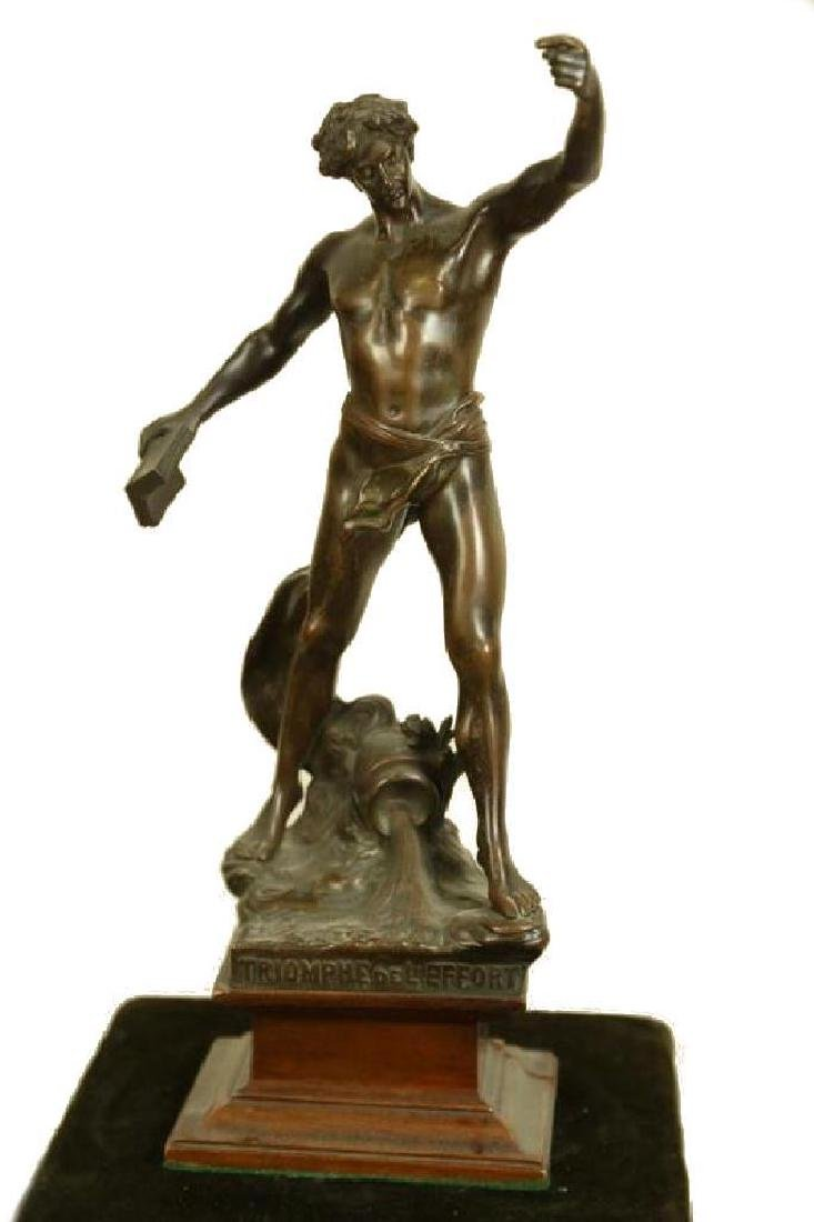 Triumph De L'effort Bronze Sculpture