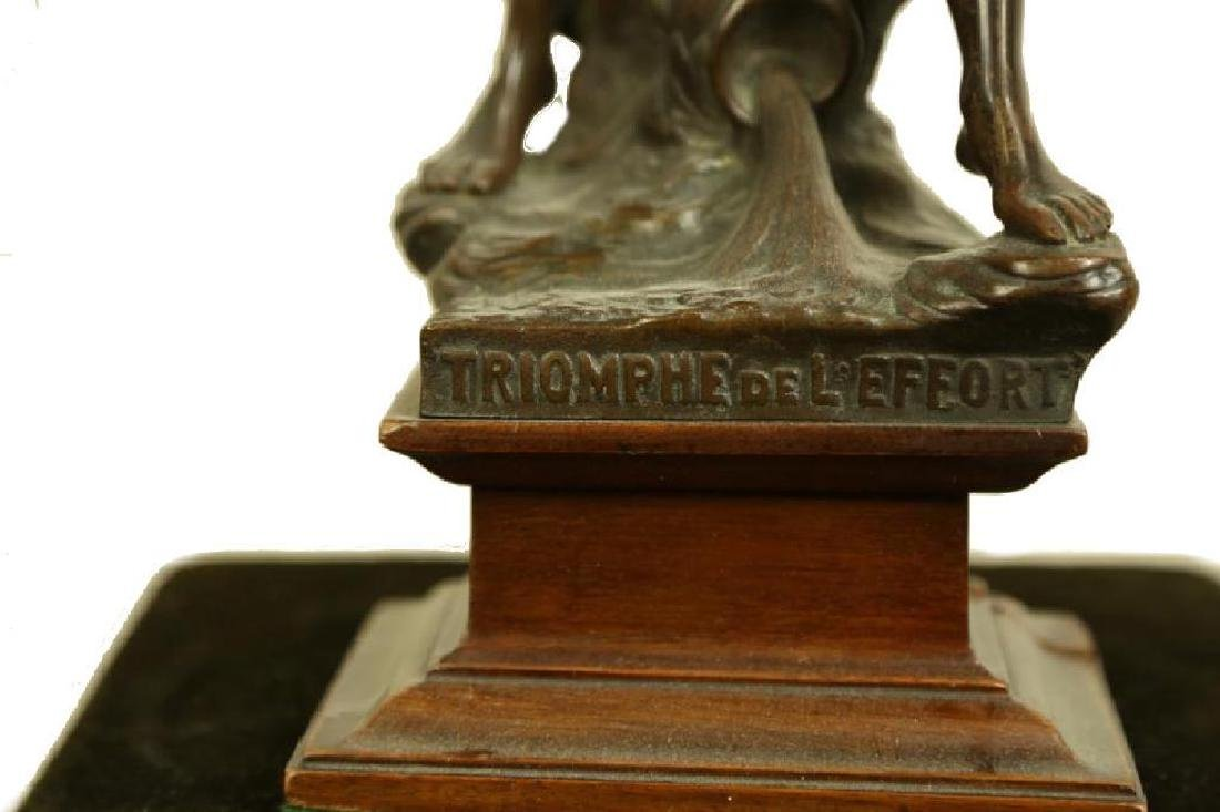 Triumph De L'effort Bronze Sculpture - 3