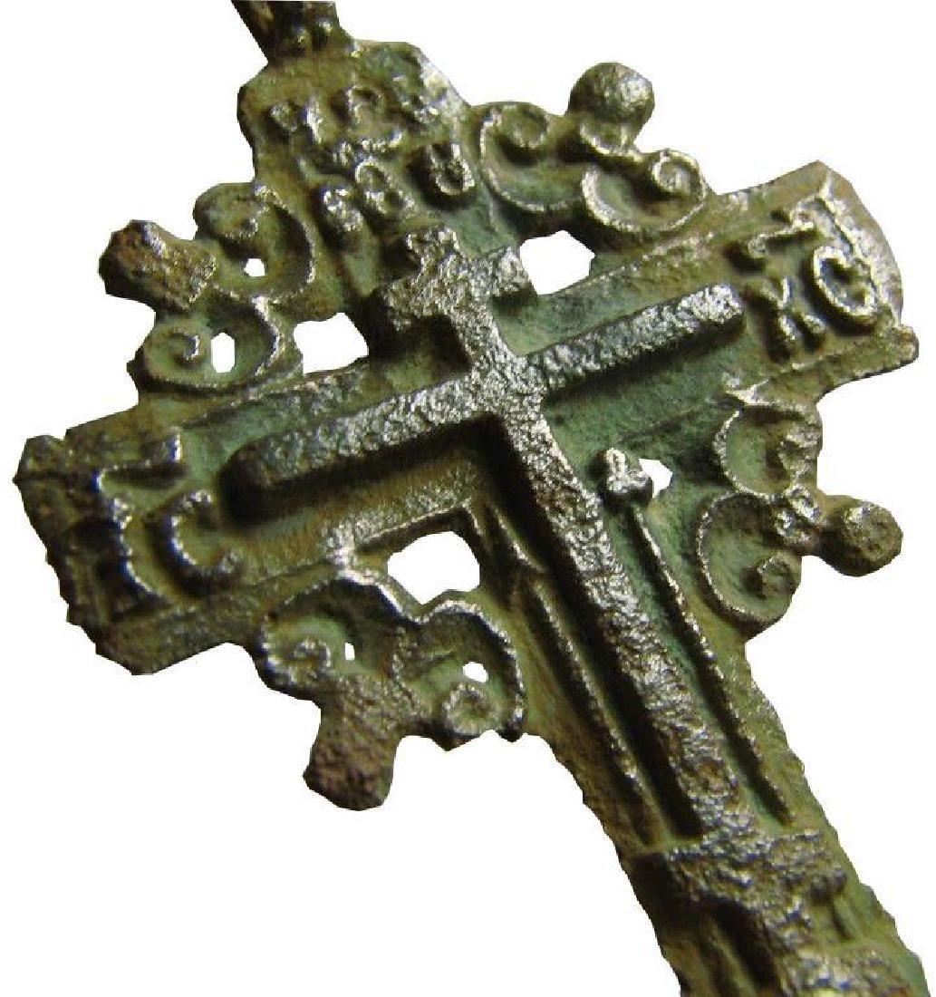 Late Medieval Orthodox Bronze Cross Pendant