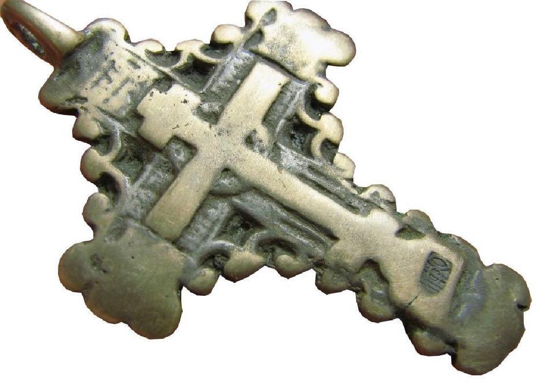 Late Medieval Church Bronze Cross Pendant