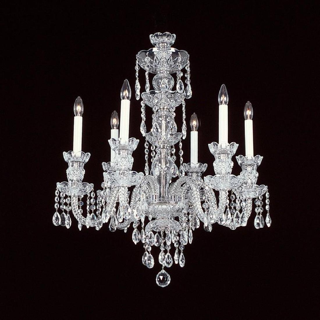 6-R-8 NF - 6 LIGHT CRYSTAL CHANDELIER WITH SWAROVSKI -