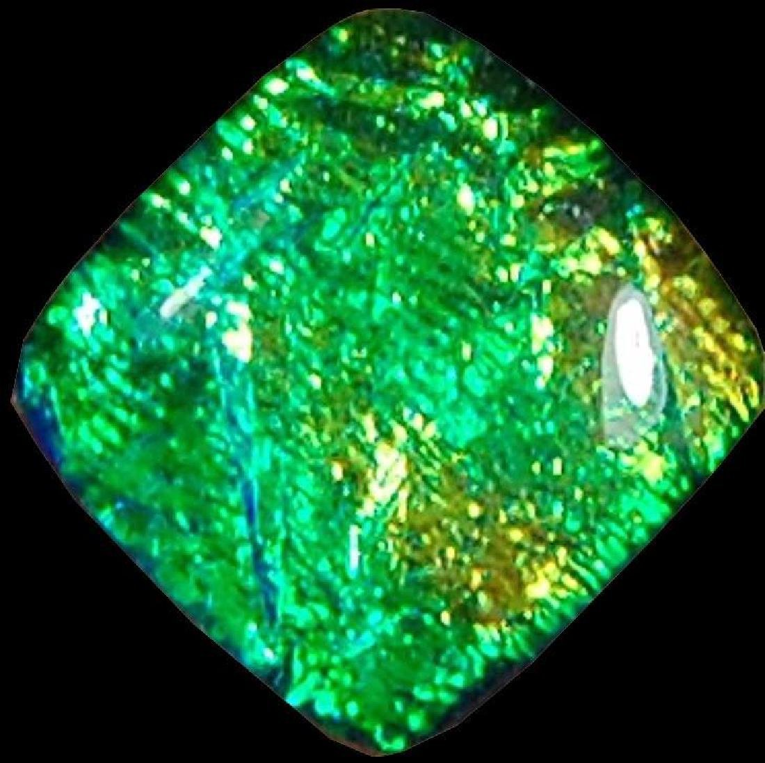 21.80 Cts Green Color Treated Australian Triplet Opal