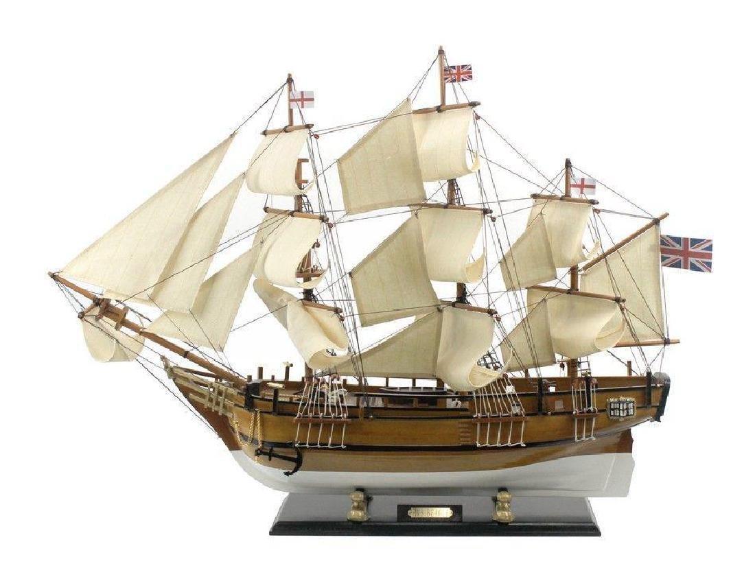 Wooden Charles Darwins HMS Beagle Limited Model Ship