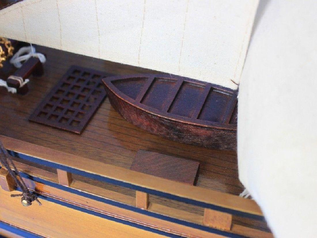 Wooden Charles Darwins HMS Beagle Limited Model Ship - 3