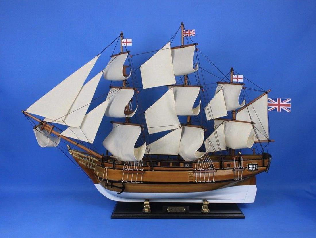 Wooden Charles Darwins HMS Beagle Limited Model Ship - 6