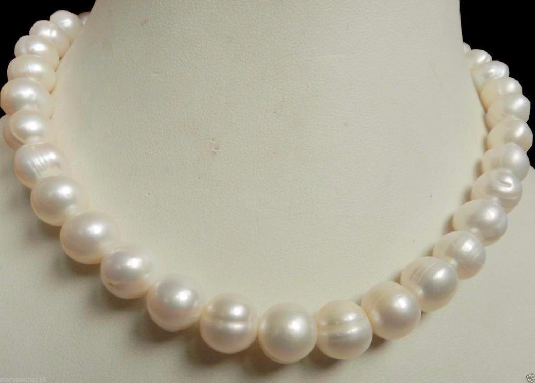 New 14K Gold Clasp 10-11MM White Akoya Pearl Necklace - 2
