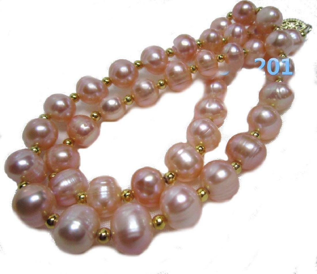 Aaa 8-9mm South Sea Natural Pink Pearl Necklace