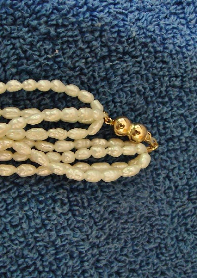 "Vintage Estate Find, Multi Strand 24"" Baroque Pearls - 3"