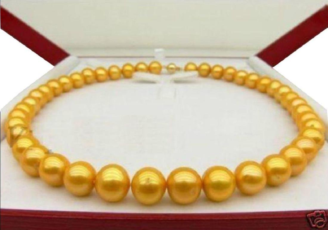 9-10mm South Sea Golden Pearl Necklace