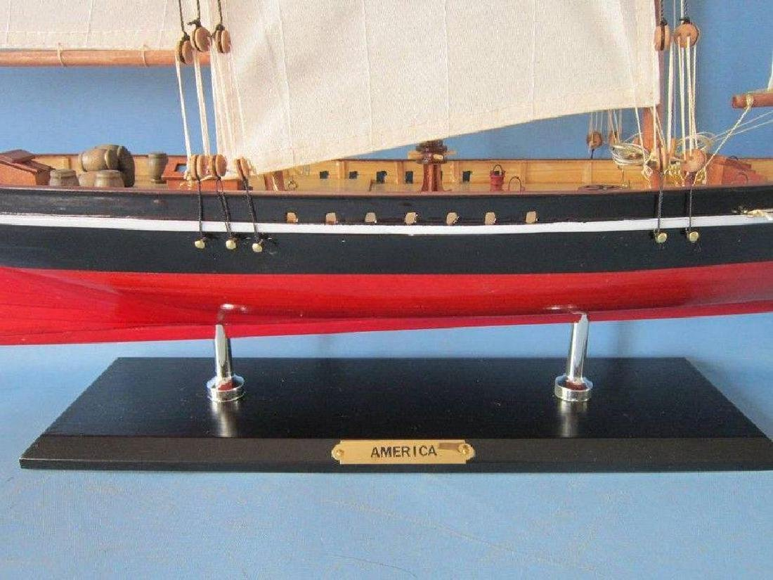 "Wooden America Limited Model Sailboat 35"" - 2"