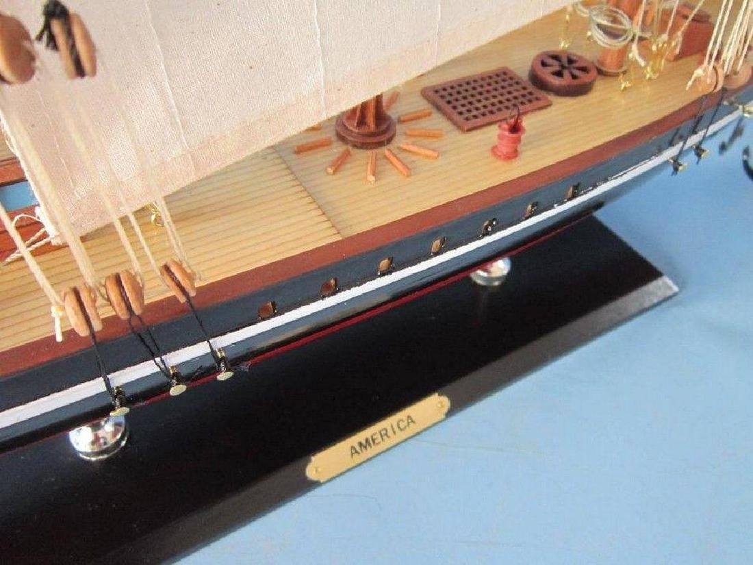 "Wooden America Limited Model Sailboat 35"" - 4"
