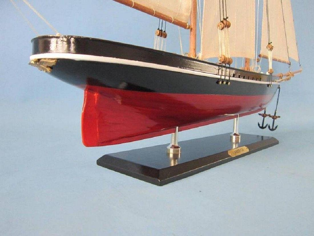 "Wooden America Limited Model Sailboat 35"" - 7"