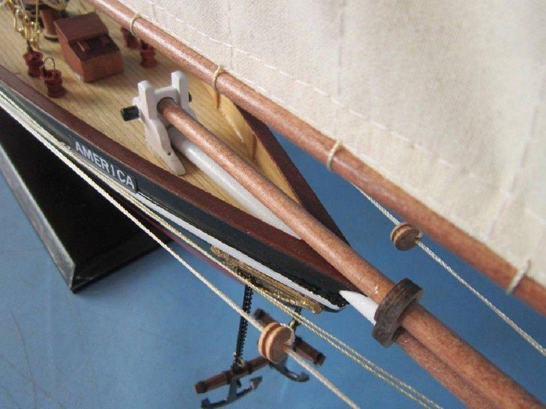 "Wooden America Limited Model Sailboat 35"" - 9"