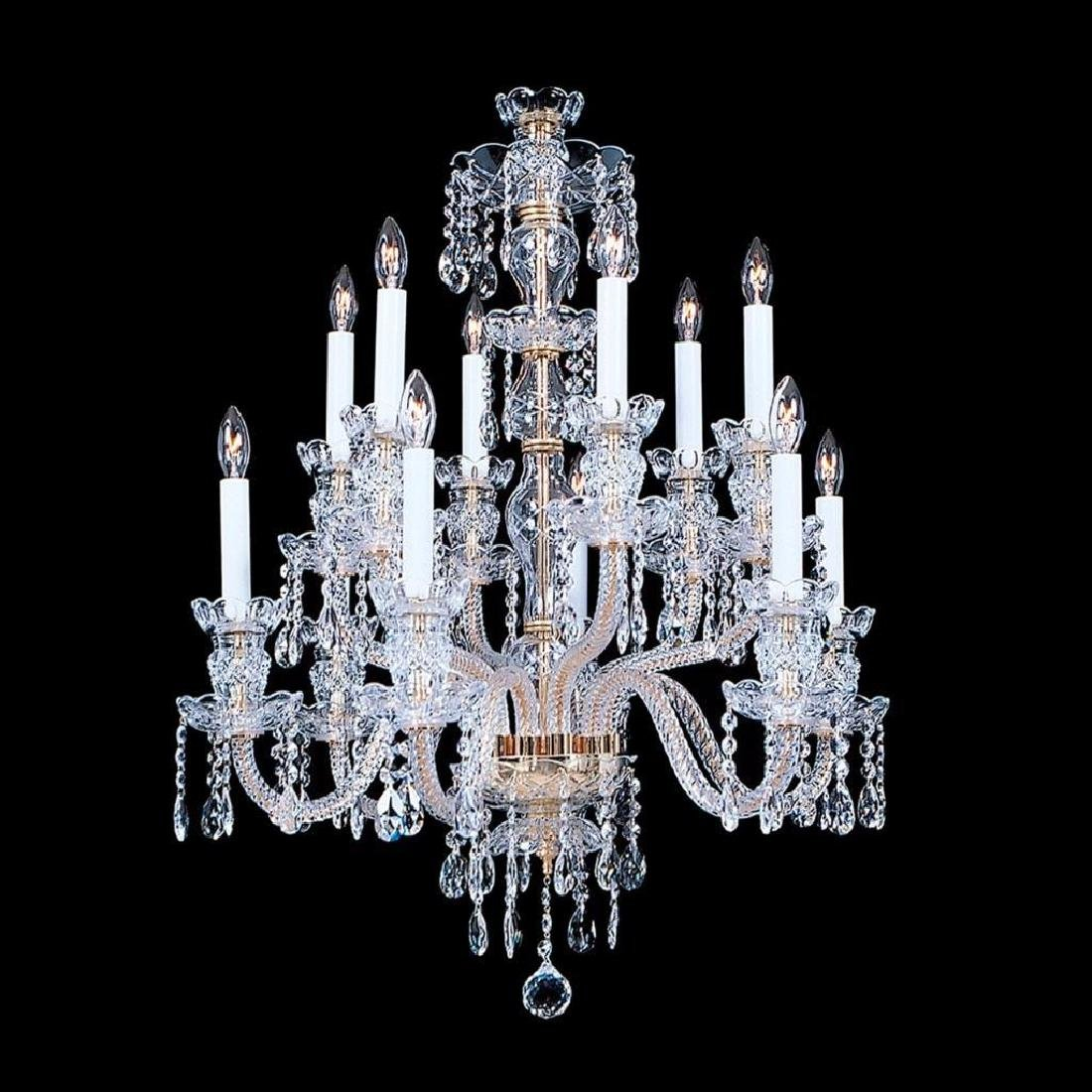 Durham - 12 Light Crystal Chandelier with Swarovski -