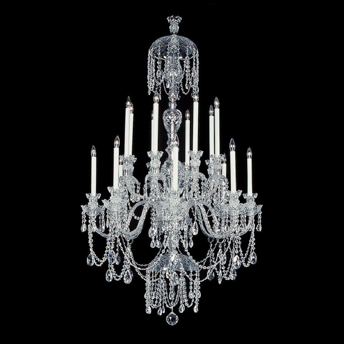 Winter Elegance - 16 Light Crystal Chandelier with