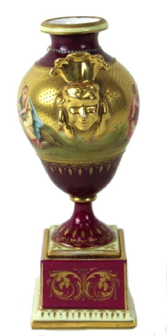 Royal Viennna Vase, Hand Painted - 3