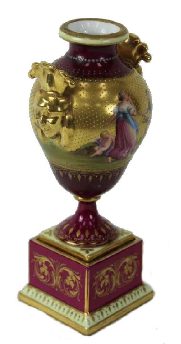 Royal Viennna Vase, Hand Painted - 5