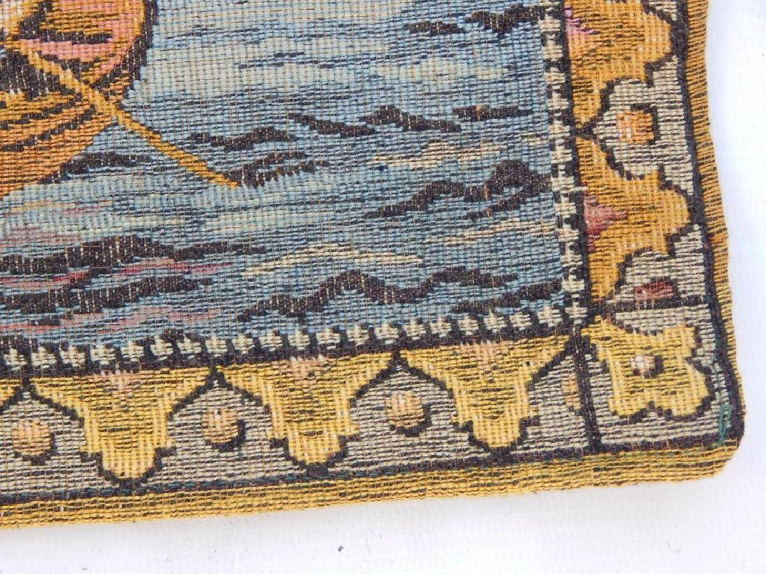 Vintage French Beautiful Tapestry Wall Hanging 58x83cm - 7