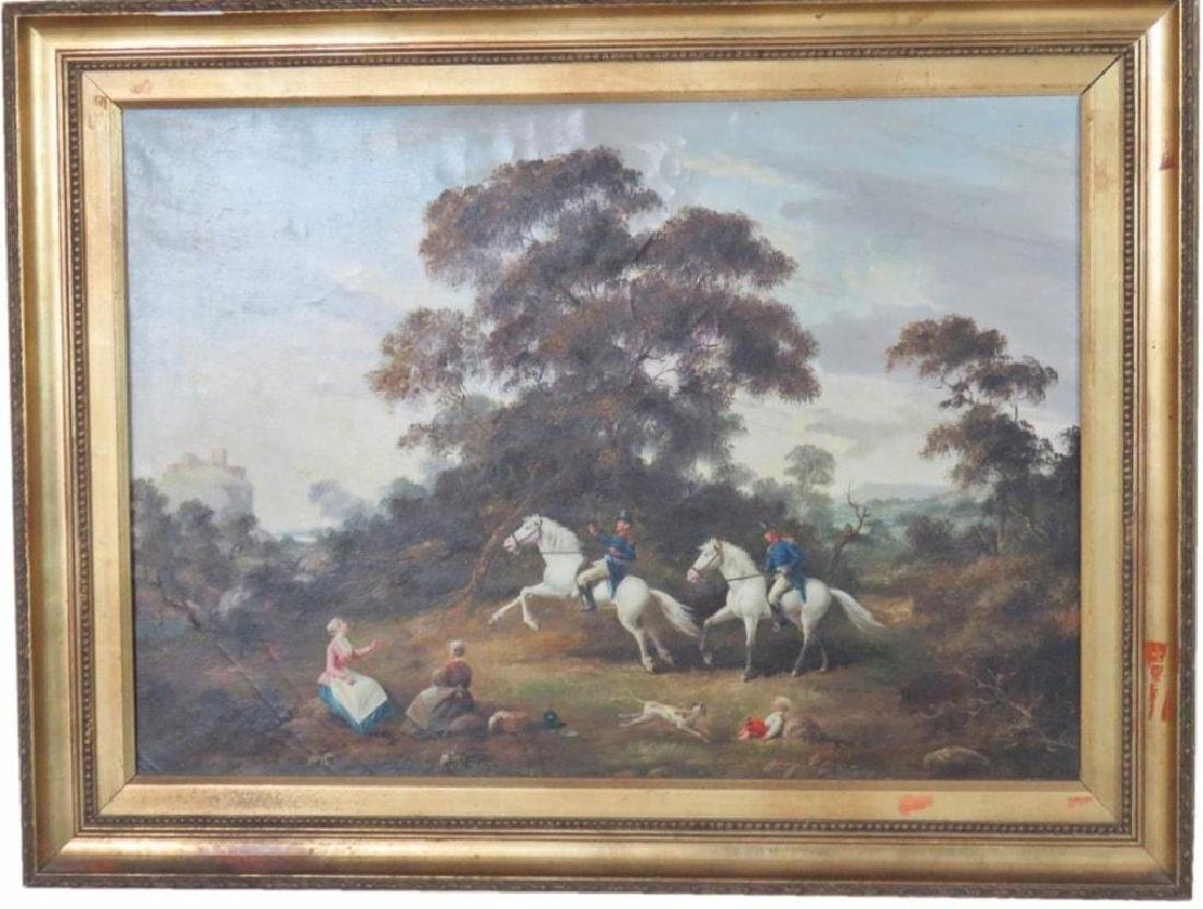 Original Mid 19thc Signed Oil Painting, French Cavalry