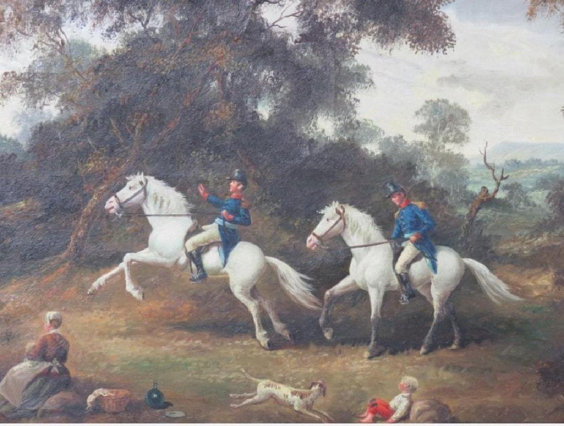 Original Mid 19thc Signed Oil Painting, French Cavalry - 2