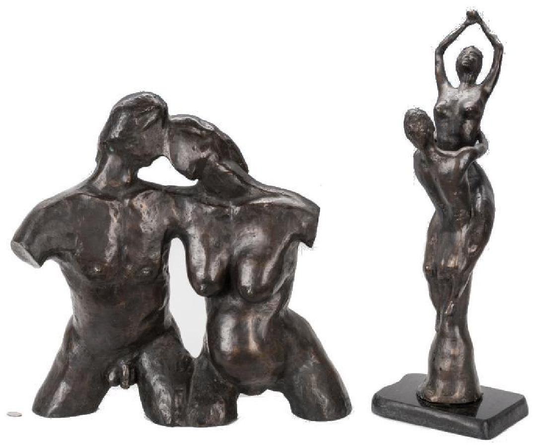 2 Nude Bronze Sculptures, A. Umlauf