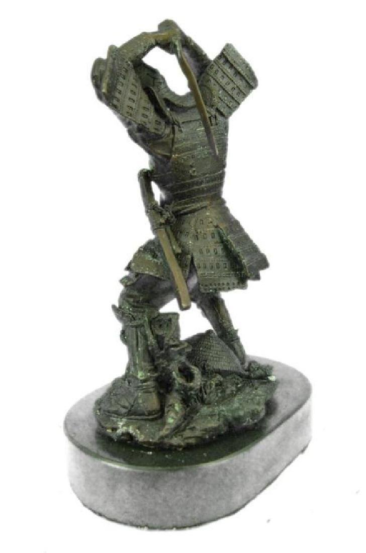 SAMURAI WARRIOR GENUINE HOTCAST PURE BRONZE STATUE ART - 2