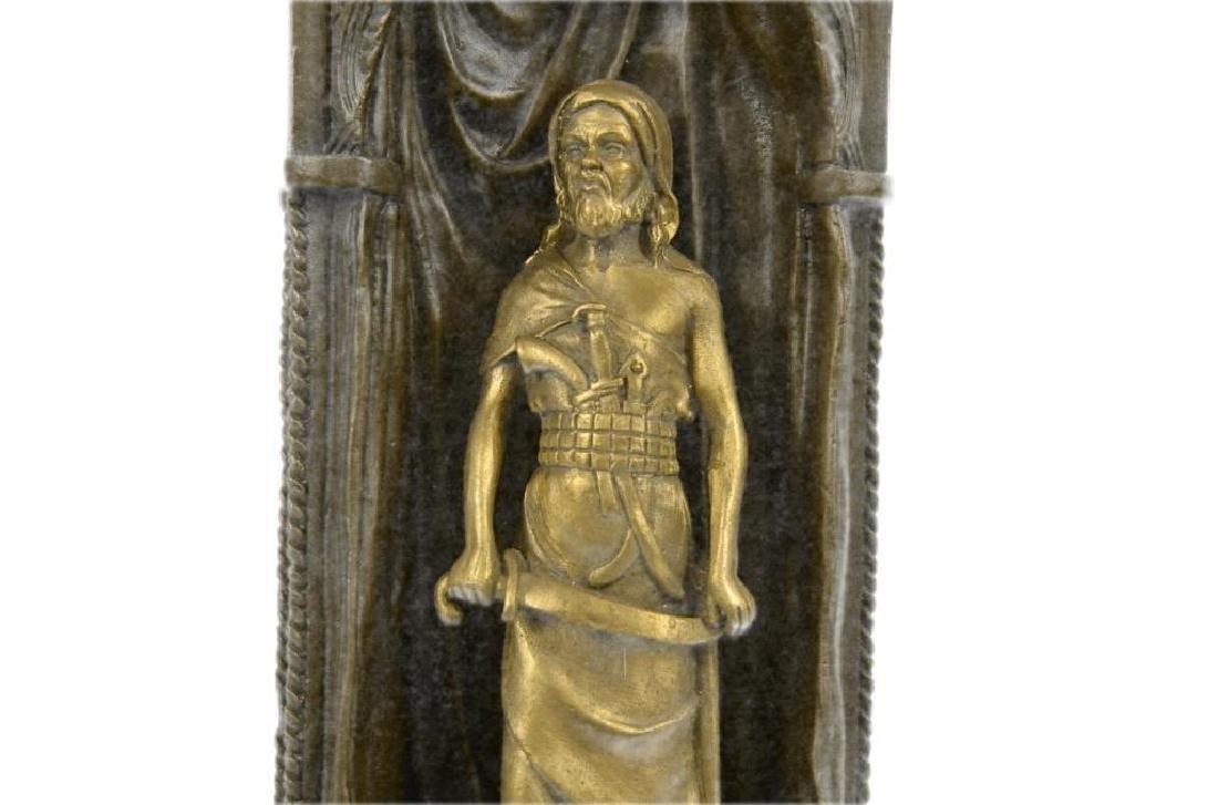 Franz Bergman Arab Man Protecting a Slave Girl Bronze - 6