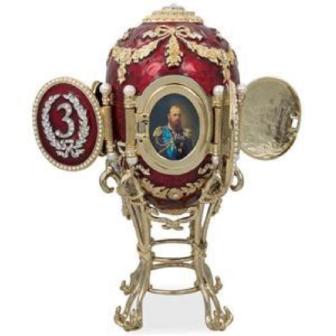 """1893 Caucasus Russian Faberge Egg 6.5"""""""