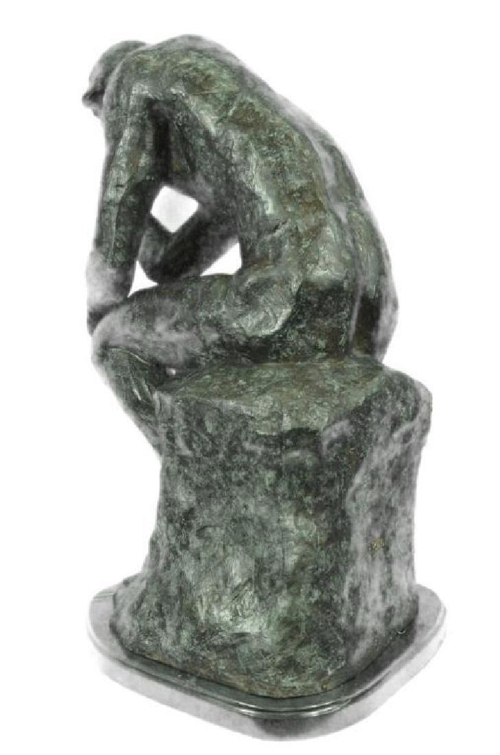 Massive Extra Large Rodin Thinker Famous Work Artwork - 3