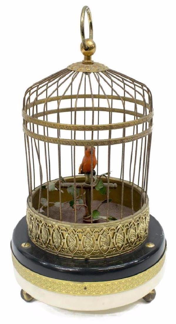 French Automaton Singing Bird in Cage - 2