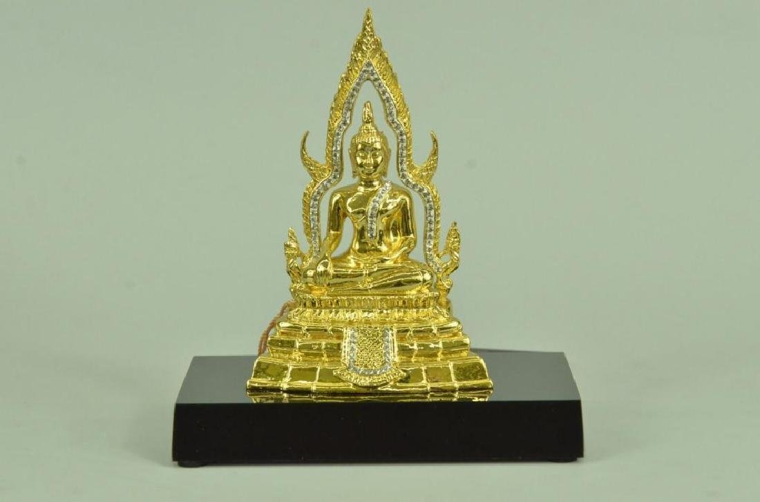 24kt Gold Plated Bronze Thai Buddha Statue