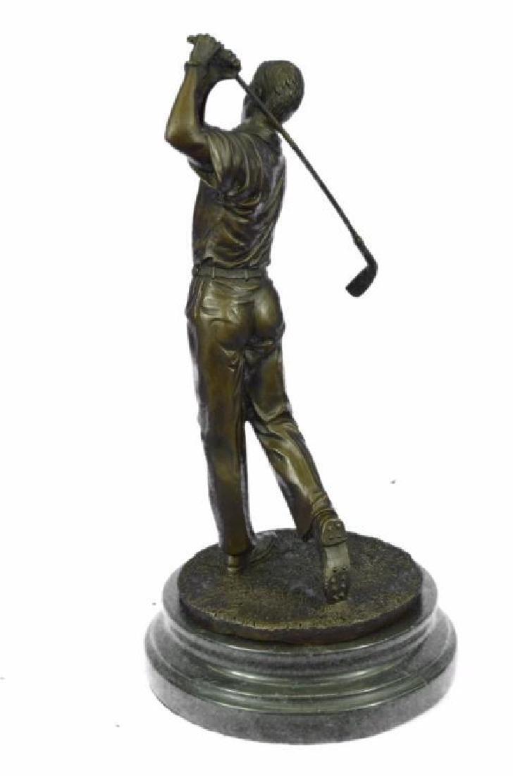 "13"" Tall Bronze Statue Vintage Golfer Golfing Trophy - 2"