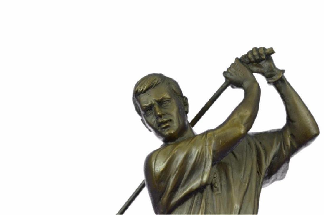 "13"" Tall Bronze Statue Vintage Golfer Golfing Trophy - 5"