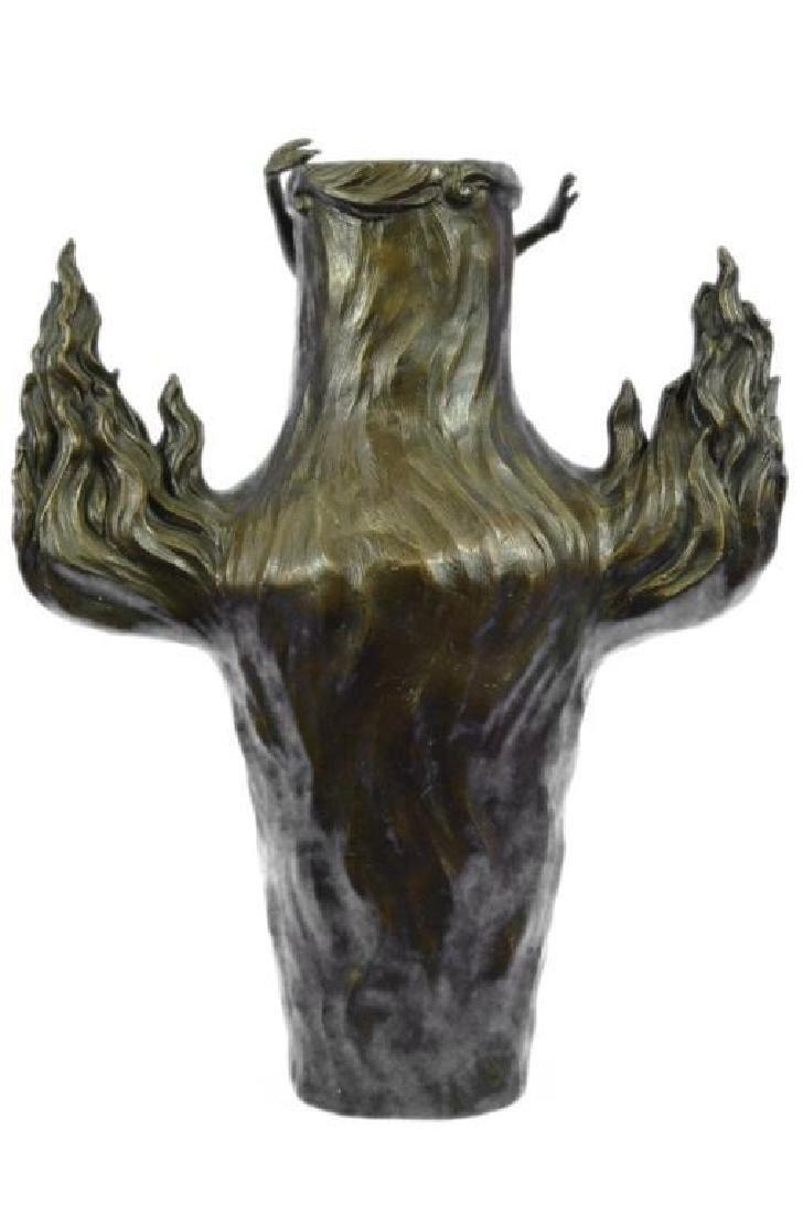 Genuine Bronze Metal Statue Nude Lady Girl Water Jug - 4